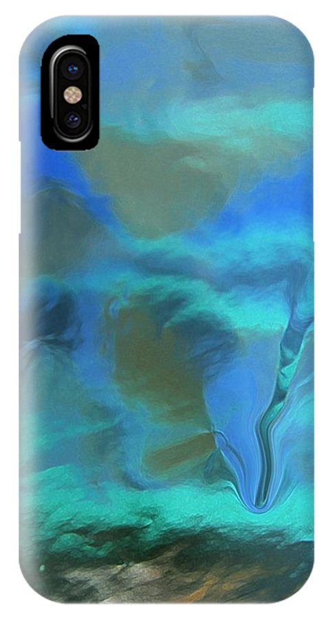 Abstract IPhone X Case featuring the digital art Whirlpool by Florene Welebny
