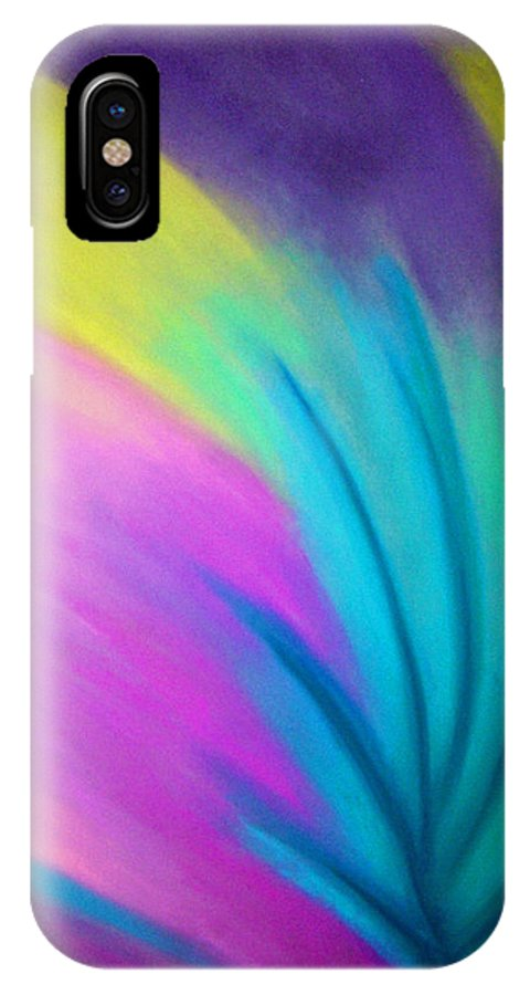 Pastel; Colors; Abstract Drawing IPhone X Case featuring the drawing Whirlwind by Jan Gilmore