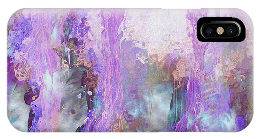 Abstract Art IPhone X Case featuring the digital art Whisper Softly by Linda Murphy