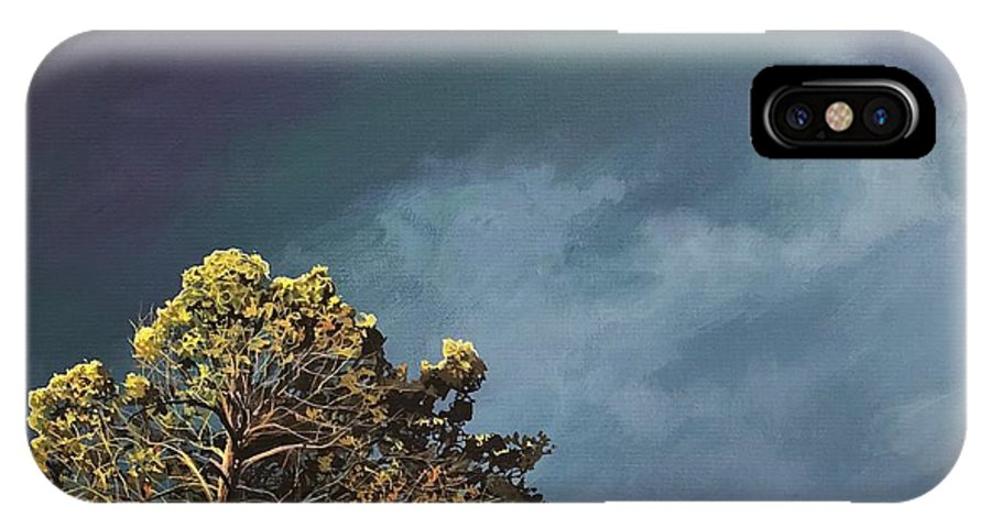 Landscape IPhone X Case featuring the painting Whistle Down The Wind by Hunter Jay
