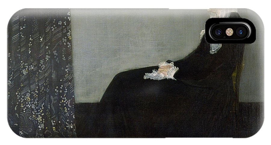 Arrangement IPhone X Case featuring the painting Whistlers Mother by James Abbott McNeill Whistler