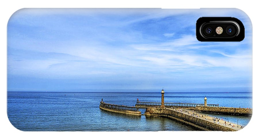 Boat IPhone X Case featuring the photograph Whitby Beach by Svetlana Sewell
