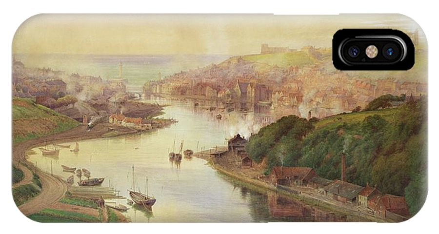 Whitby IPhone X Case featuring the painting Whitby From Larpool by John Sowden