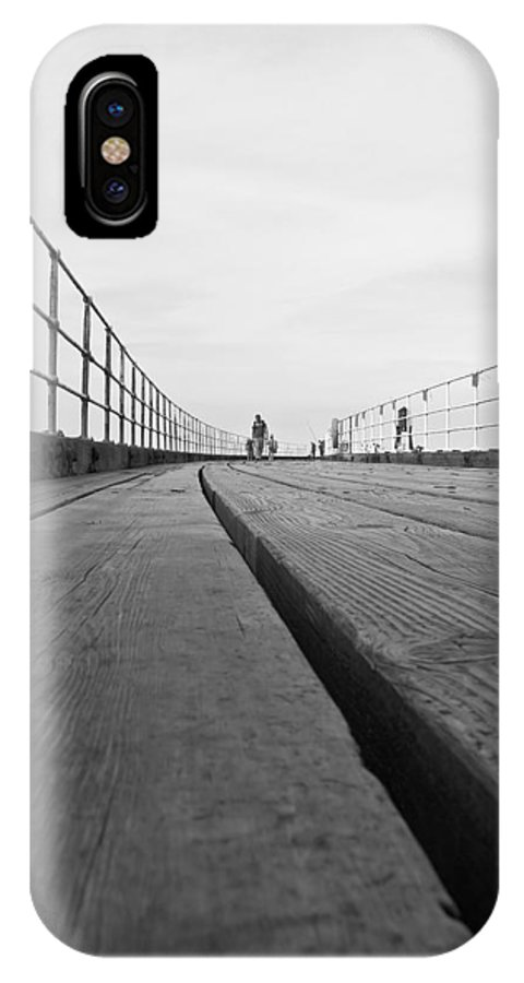 Whitby Pier IPhone X Case featuring the photograph Whitby Pier by Svetlana Sewell