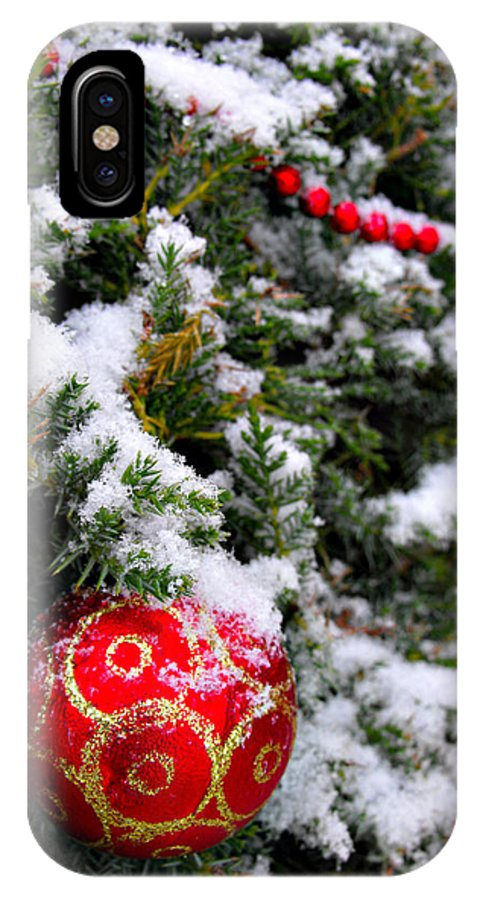 Tree IPhone X / XS Case featuring the photograph White Christmas by Alexandra Cook