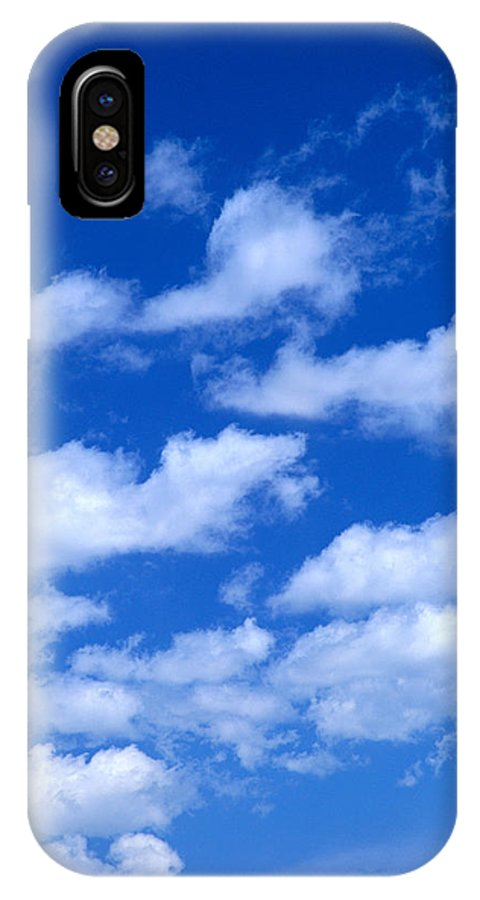Air IPhone X Case featuring the photograph White Clouds by Kyle Rothenborg - Printscapes