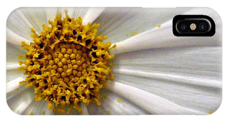Flower IPhone X Case featuring the photograph White Cosmos by Jacqueline Milner