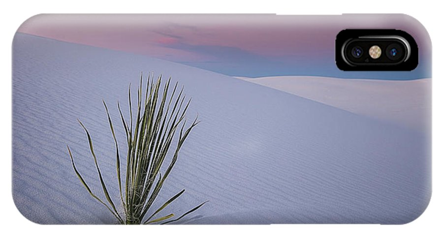 White IPhone X Case featuring the photograph White Dunes by Edgars Erglis