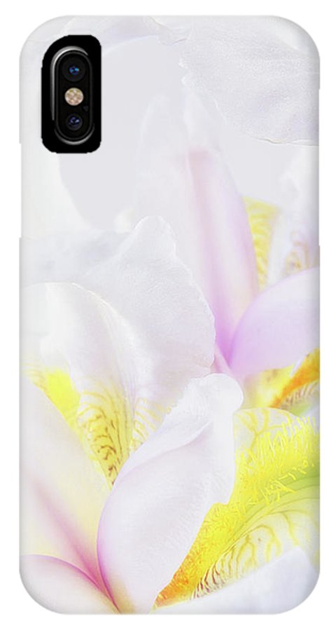 Iris IPhone X Case featuring the photograph White Iris by Leland D Howard