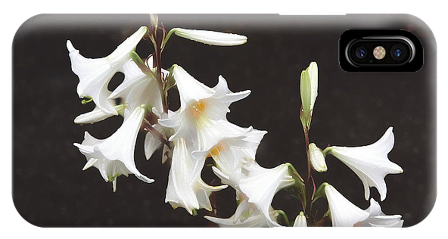Apperture IPhone X Case featuring the photograph White Lilies by Adrian Bud