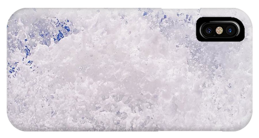 Splash IPhone X / XS Case featuring the photograph White Out by Byron Fair