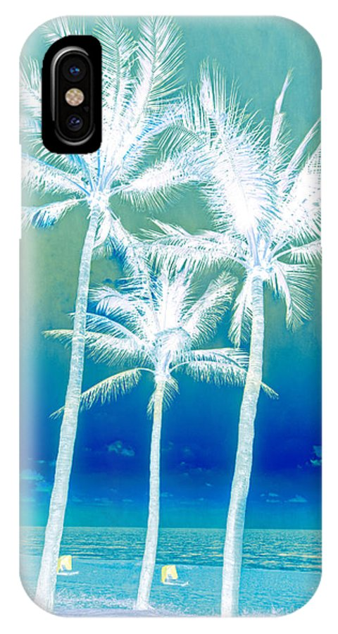 Clouds IPhone X Case featuring the photograph White Palms by Debra and Dave Vanderlaan