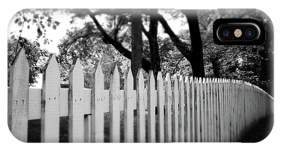Picket Fence IPhone X Case featuring the photograph White Picket Fence- By Linda Woods by Linda Woods