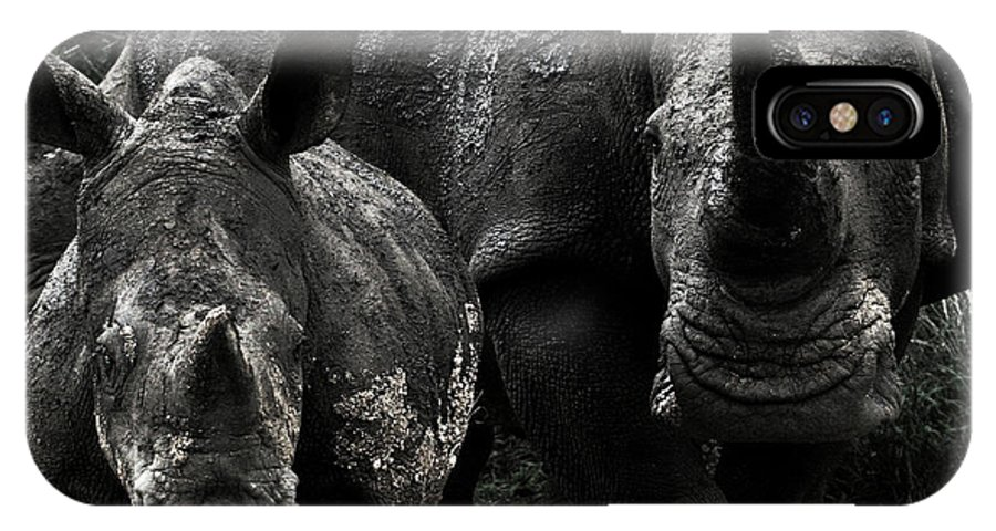 Africa IPhone X Case featuring the photograph White Rhinos by Steve Evans