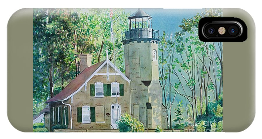 Michigan IPhone X Case featuring the painting White River Light by LeAnne Sowa