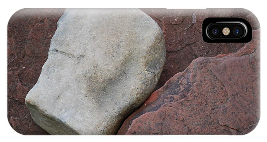 Color IPhone X Case featuring the photograph White Rock On Red Rock Number 1 by Heather Kirk