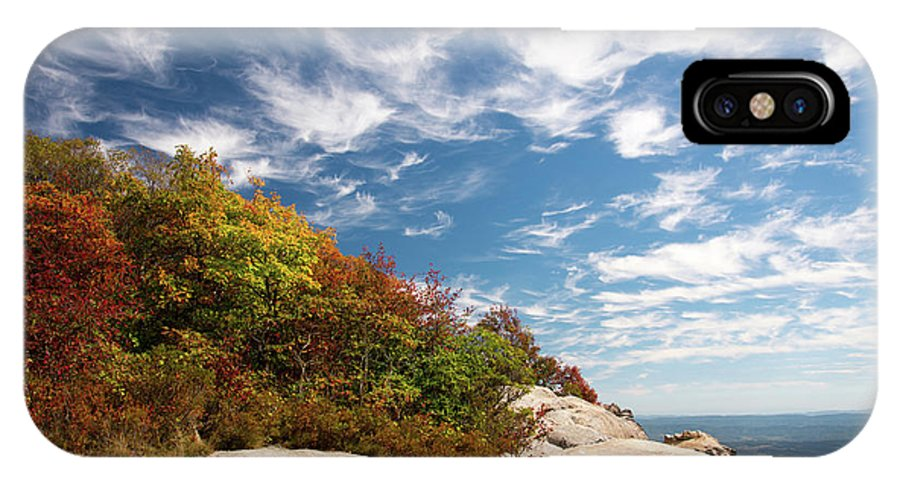 Fall IPhone X Case featuring the photograph White Rocks by Joe Tabb
