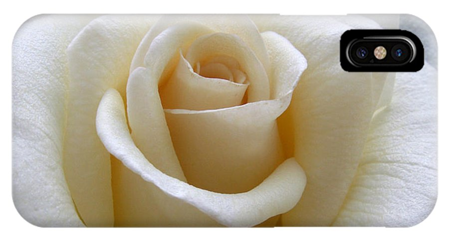 Roses IPhone X Case featuring the photograph White Rose by Amy Fose