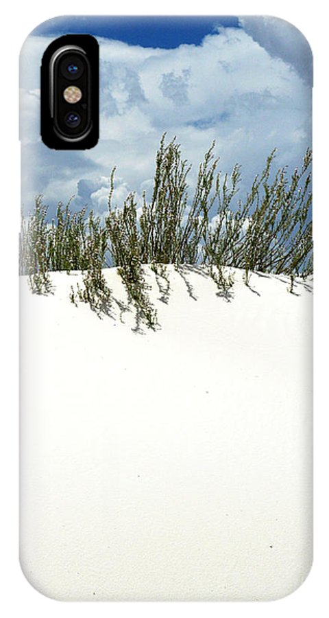 Sand IPhone X Case featuring the photograph White Sand Green Grass Blue Sky by Joe Kozlowski