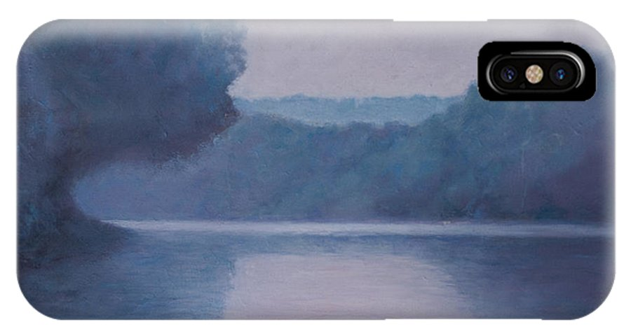 Impressionist IPhone X Case featuring the painting Whites Ferry by Don Perino