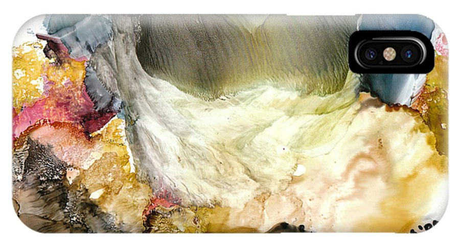 Whitewater IPhone Case featuring the painting Whitewater Rapids by Susan Kubes