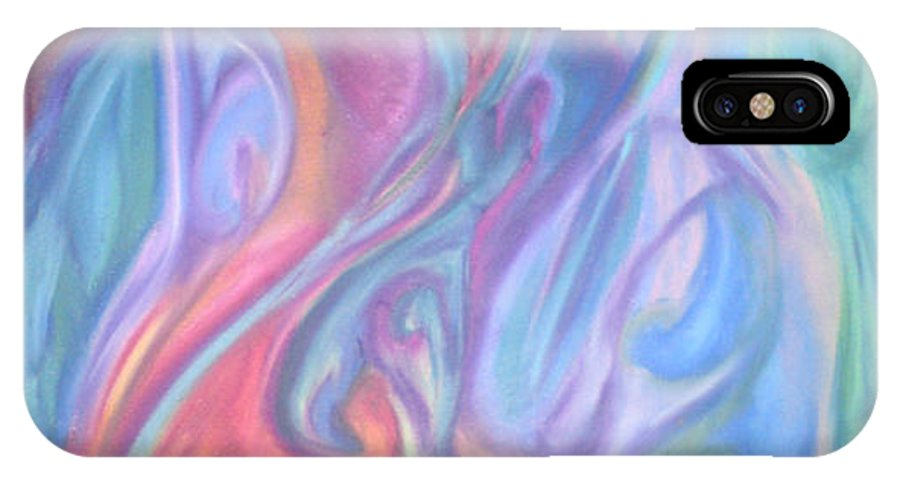 IPhone X Case featuring the pastel Whitout Titel by Sitara Bruns