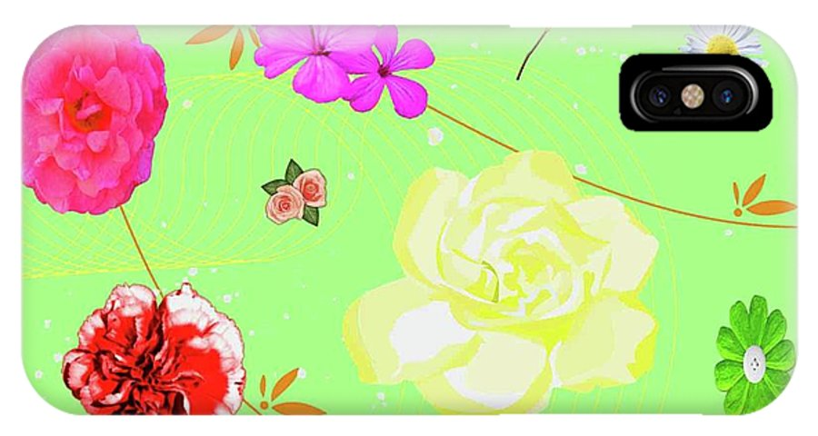 Flowers IPhone X Case featuring the photograph Whoosh Of Flowers by Rebecca Mento