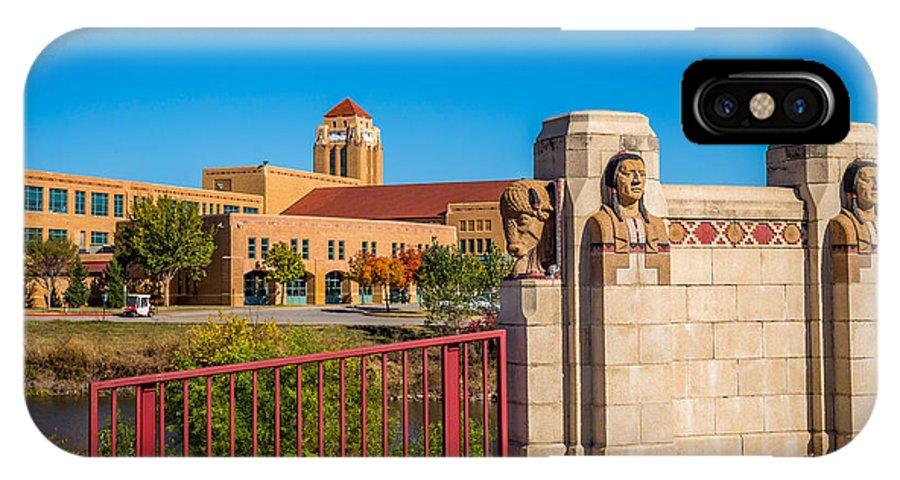 Architecture IPhone X Case featuring the photograph Wichita Bridge #1 by Jon Manjeot