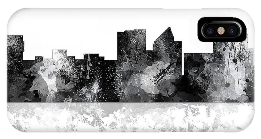 Wichita Kansas Skyline IPhone X Case featuring the digital art Wichita Kansas Skyline by Marlene Watson