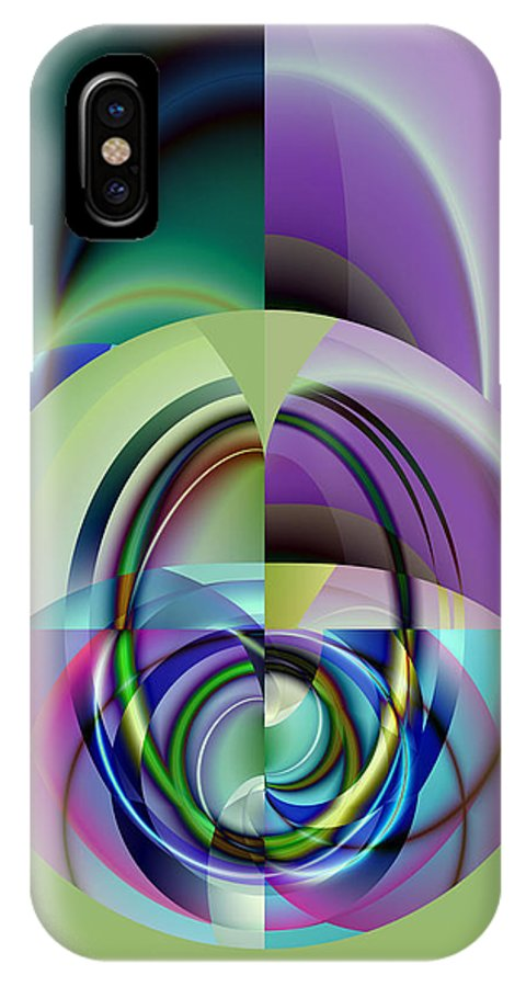 Abstract IPhone X Case featuring the digital art Wide Eye by Frederic Durville