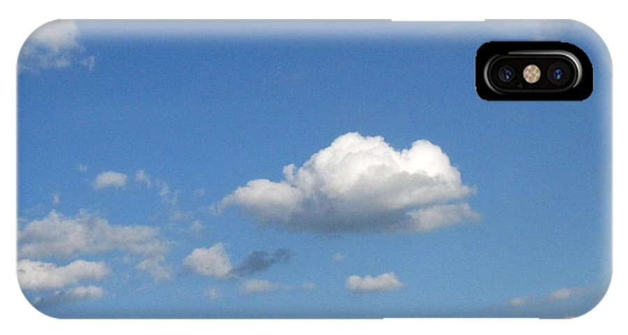 Clouds IPhone X Case featuring the photograph Wide Open by Rhonda Barrett