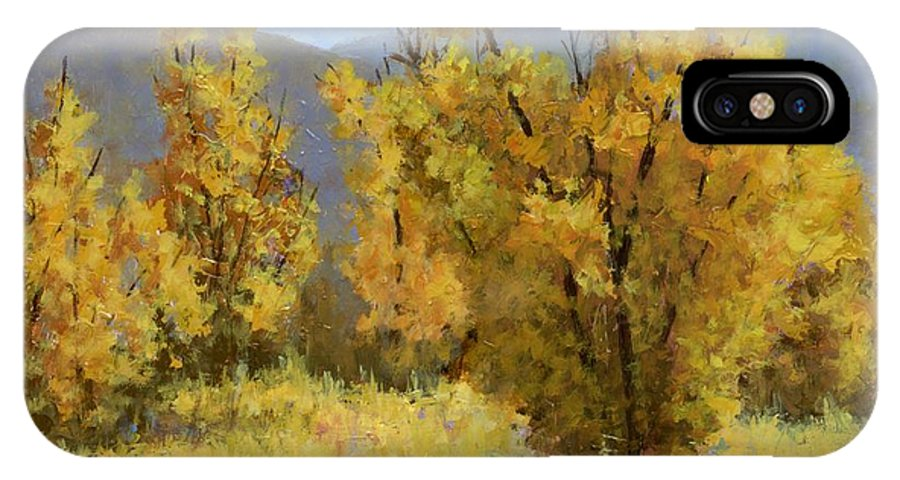 Landscape Painting IPhone X / XS Case featuring the painting Wild Autumn by David King