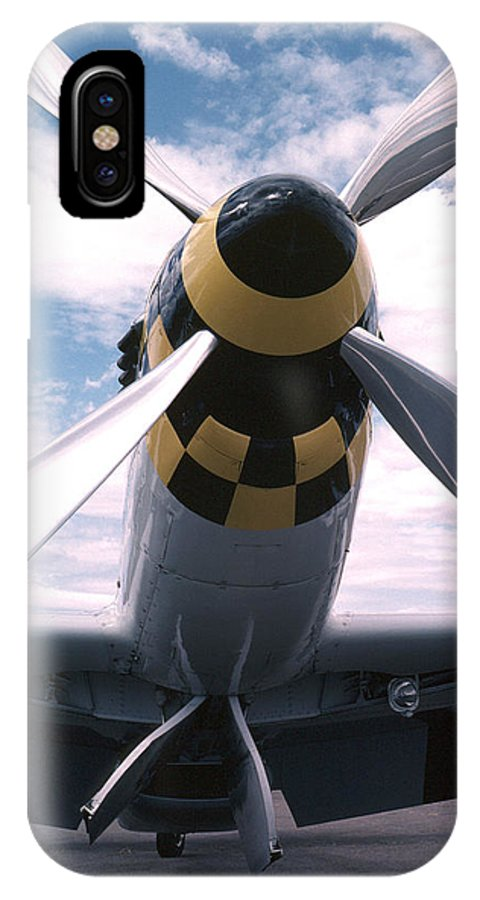 P51d IPhone X Case featuring the photograph Wild Blue Yonder by Spencer Bush
