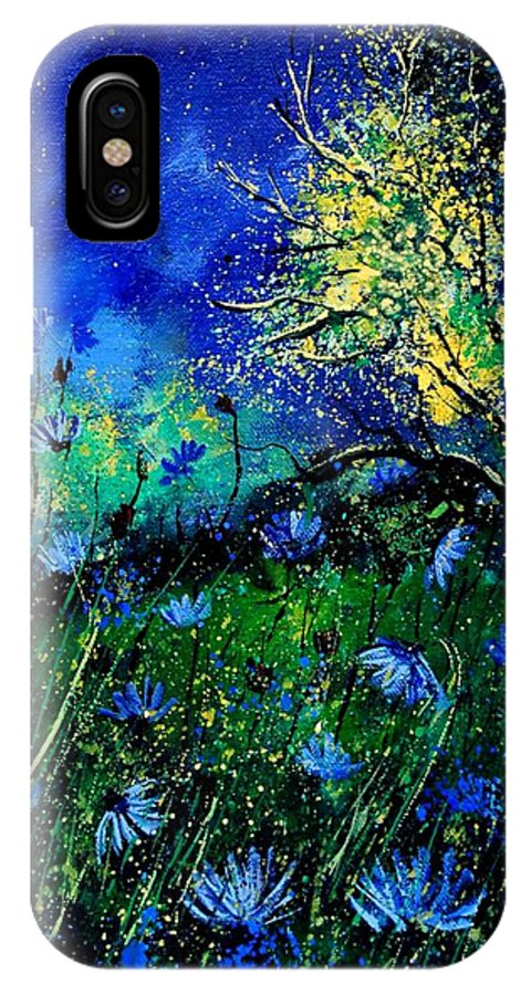 Poppies IPhone X Case featuring the painting Wild Chocoree by Pol Ledent