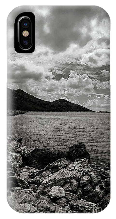 B&w IPhone X Case featuring the photograph Wild Coast by Diego Muzzini