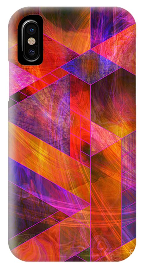 Wild Fire IPhone X Case featuring the digital art Wild Fire by John Beck