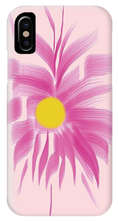 Flowers IPhone X Case featuring the digital art Wild Flower by Lillian Hibiscus