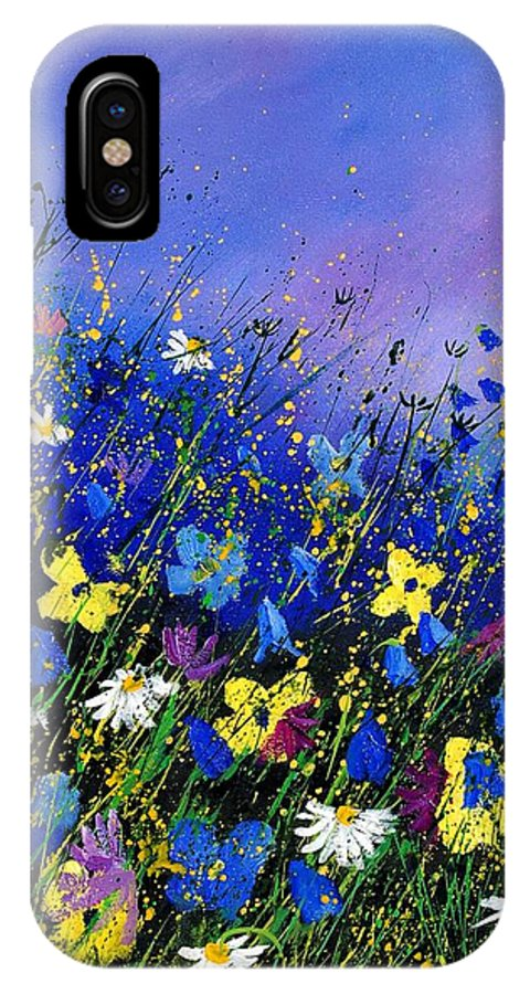 Flowers IPhone X Case featuring the painting Wild Flowers 560908 by Pol Ledent