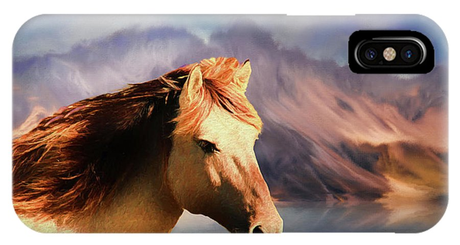 Horse IPhone X Case featuring the photograph Wild Horse - Painting by Ericamaxine Price