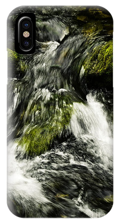 Beauty IPhone X Case featuring the photograph Wild Stream Of Green Moss by Jozef Jankola