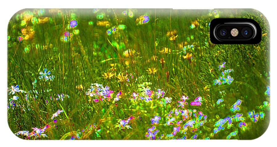 Wildflower IPhone X Case featuring the photograph Wildflower field by Heather Coen