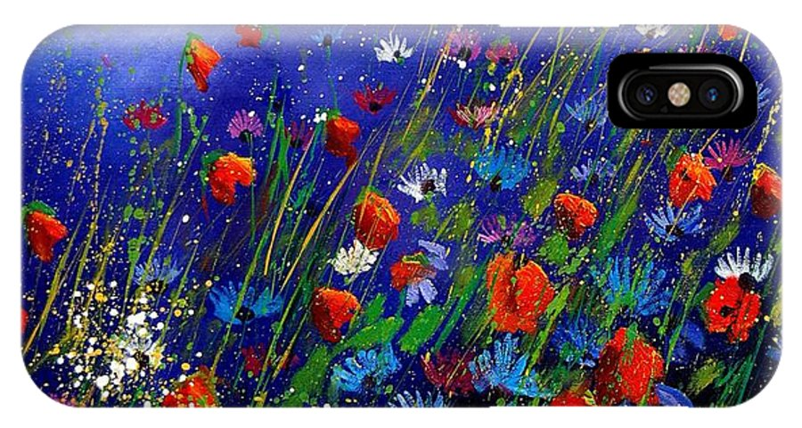 Poppies IPhone X Case featuring the painting Wildflowers 78 by Pol Ledent