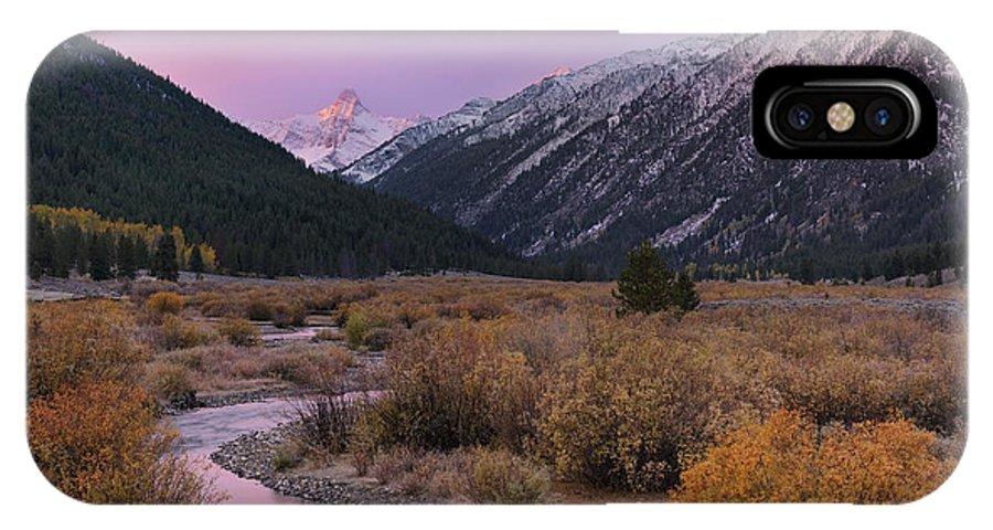 Idaho Scenics IPhone X / XS Case featuring the photograph Wildhorse Creek Autumn Sunrise by Leland D Howard