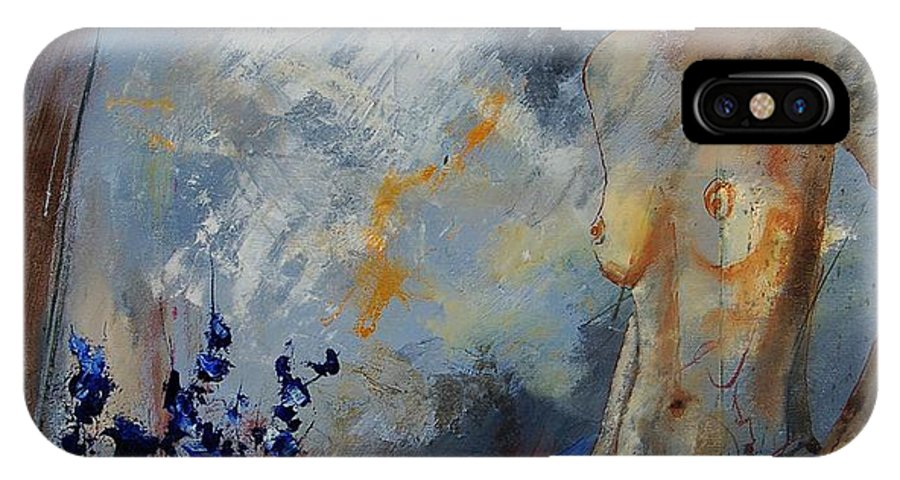 Girl IPhone Case featuring the painting Will He Be Coming by Pol Ledent