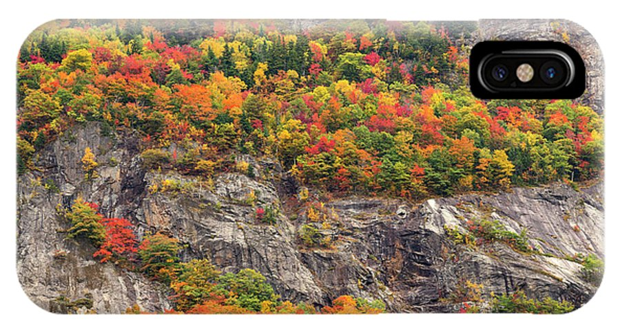 Crawford Notch IPhone X Case featuring the photograph Willard Cliffs by Aaron Whittemore