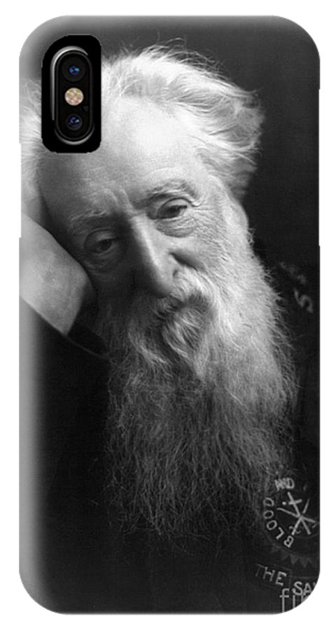 1907 IPhone X Case featuring the photograph William Booth (1829-1912) by Granger