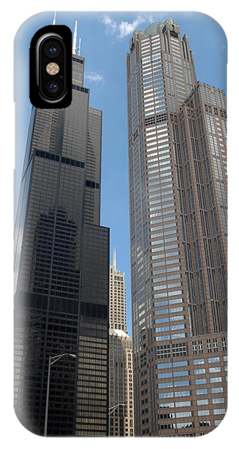 3scape IPhone X Case featuring the photograph Willis Tower Aka Sears Tower And 311 South Wacker Drive by Adam Romanowicz