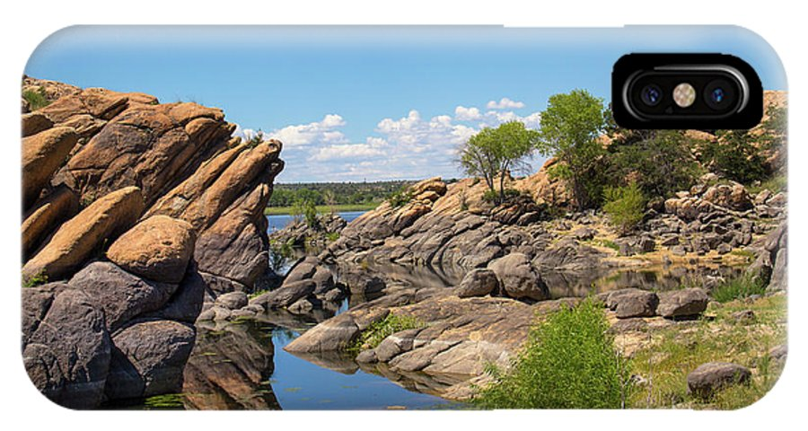 Landscape IPhone X Case featuring the photograph Willow Lake And Granite Dells by Amy Sorvillo