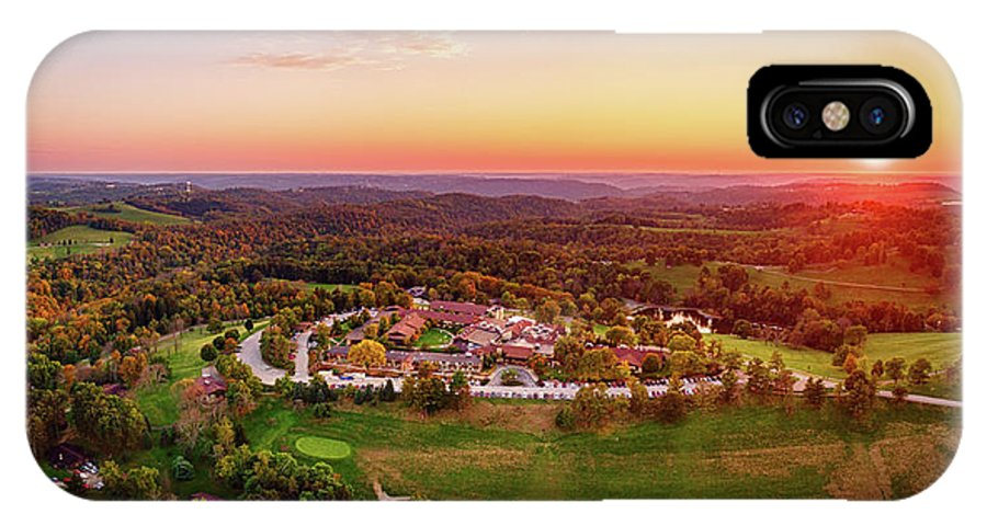 Oglebay IPhone X Case featuring the photograph Wilson Lodge Panorama by Flying Dreams