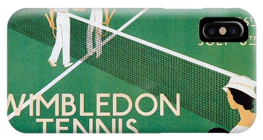Wimbledon IPhone X Case featuring the mixed media Wimbledon Tennis Southfield Station - London Underground - Retro Travel Poster - Vintage Poster by Studio Grafiikka